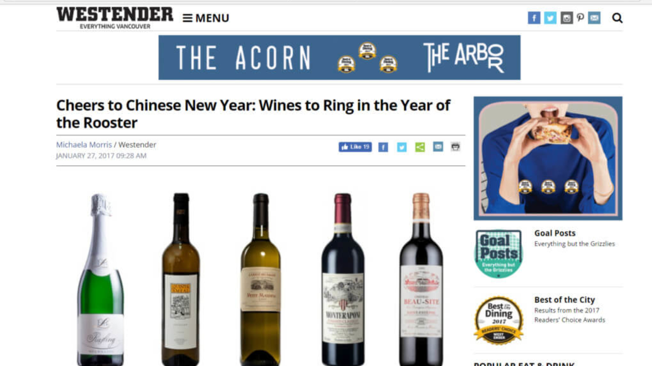 Westender Newspaper Chinese New Year Wines