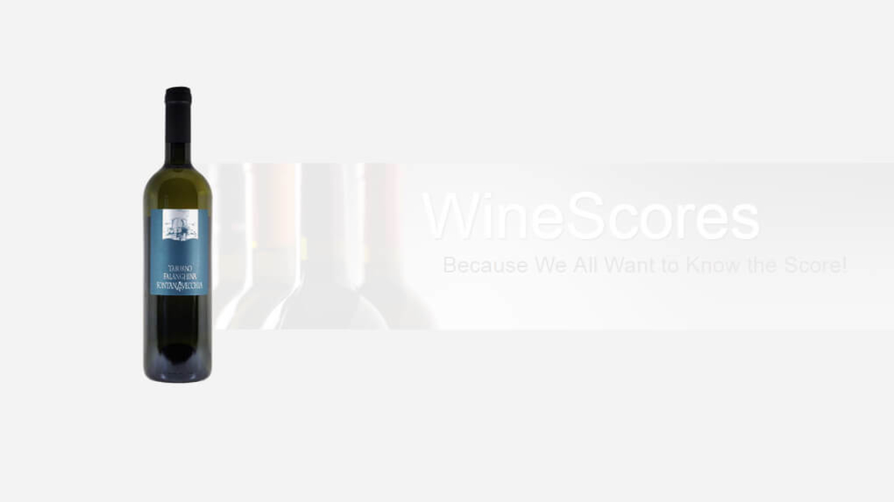 Wine Score Fontana Vecchia Taburno Falanghina Del Sannio